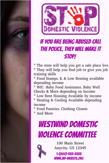 Domestic Violence Flyer Templates Domestic Violence Template Postermywall