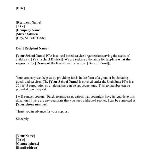 donation letter