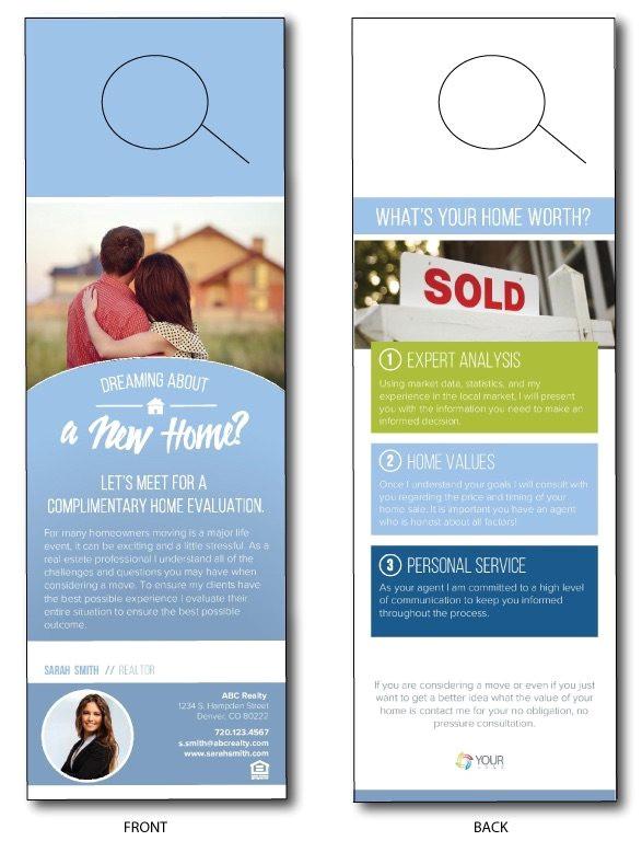 real estate door knocking flyers