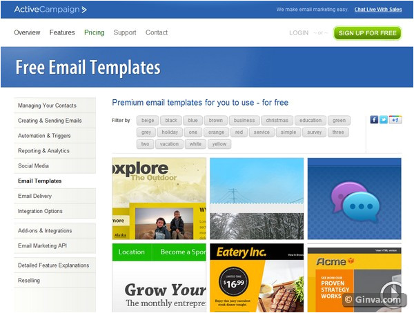 free html email newsletter templates