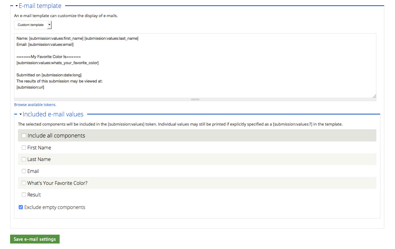 drupal webform custom email template 02 browse tokens