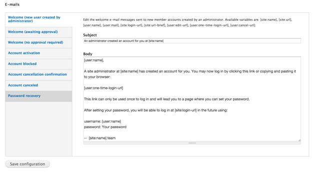 Drupal Email Templates How to Disable Account Related E Mails In Drupal 7