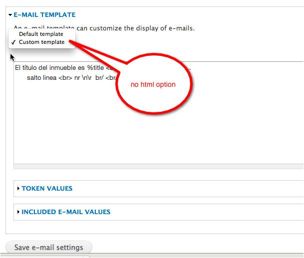 drupal webform custom email template
