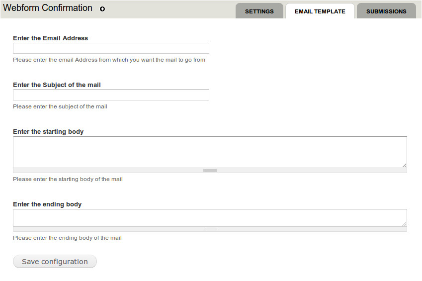 webform confirmation