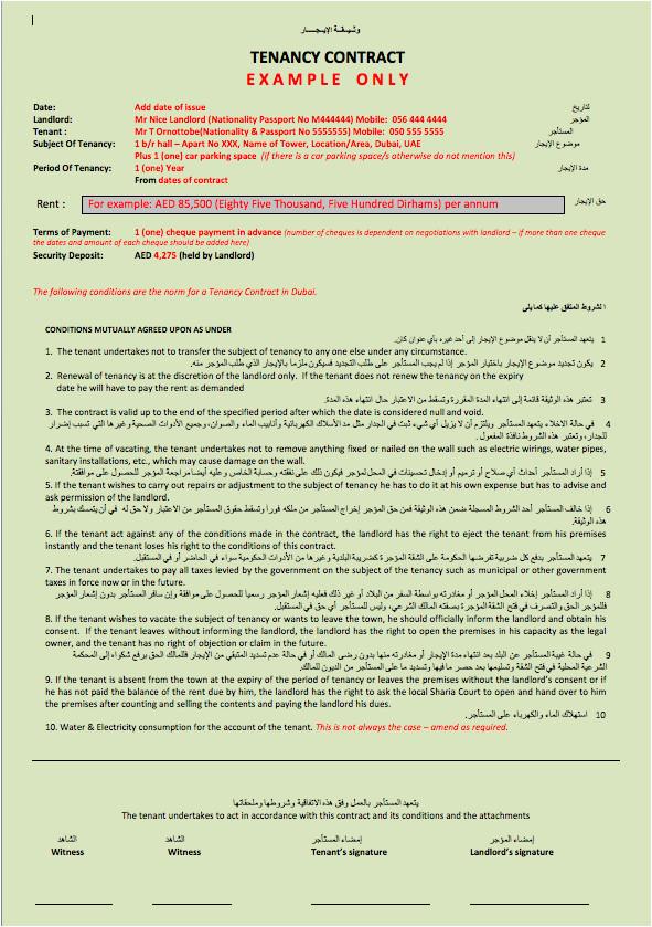 tenancy contract