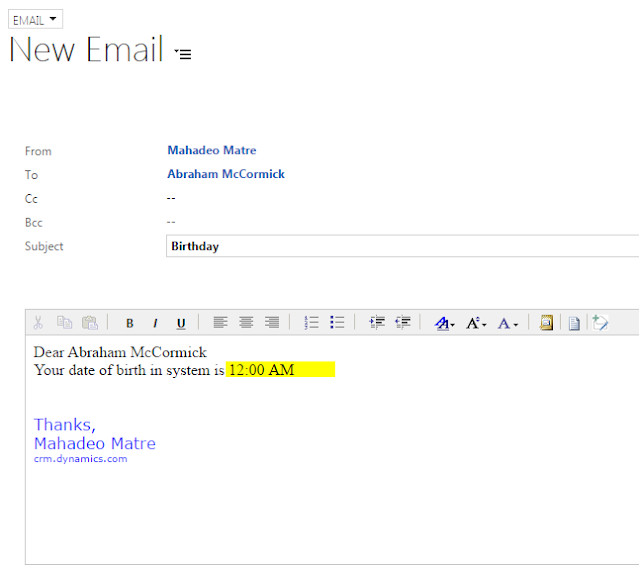 email template show date or time portion only for datetime attribute