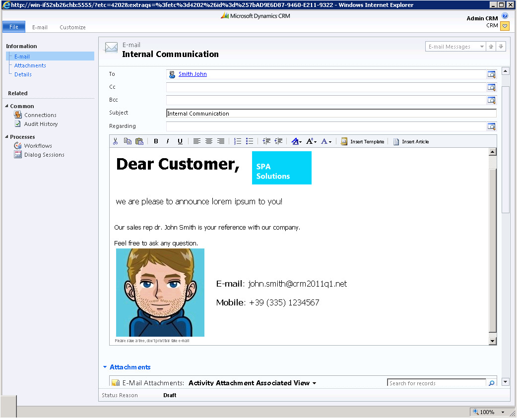 stunning rich html emails dynamics crm 2011 episode iii