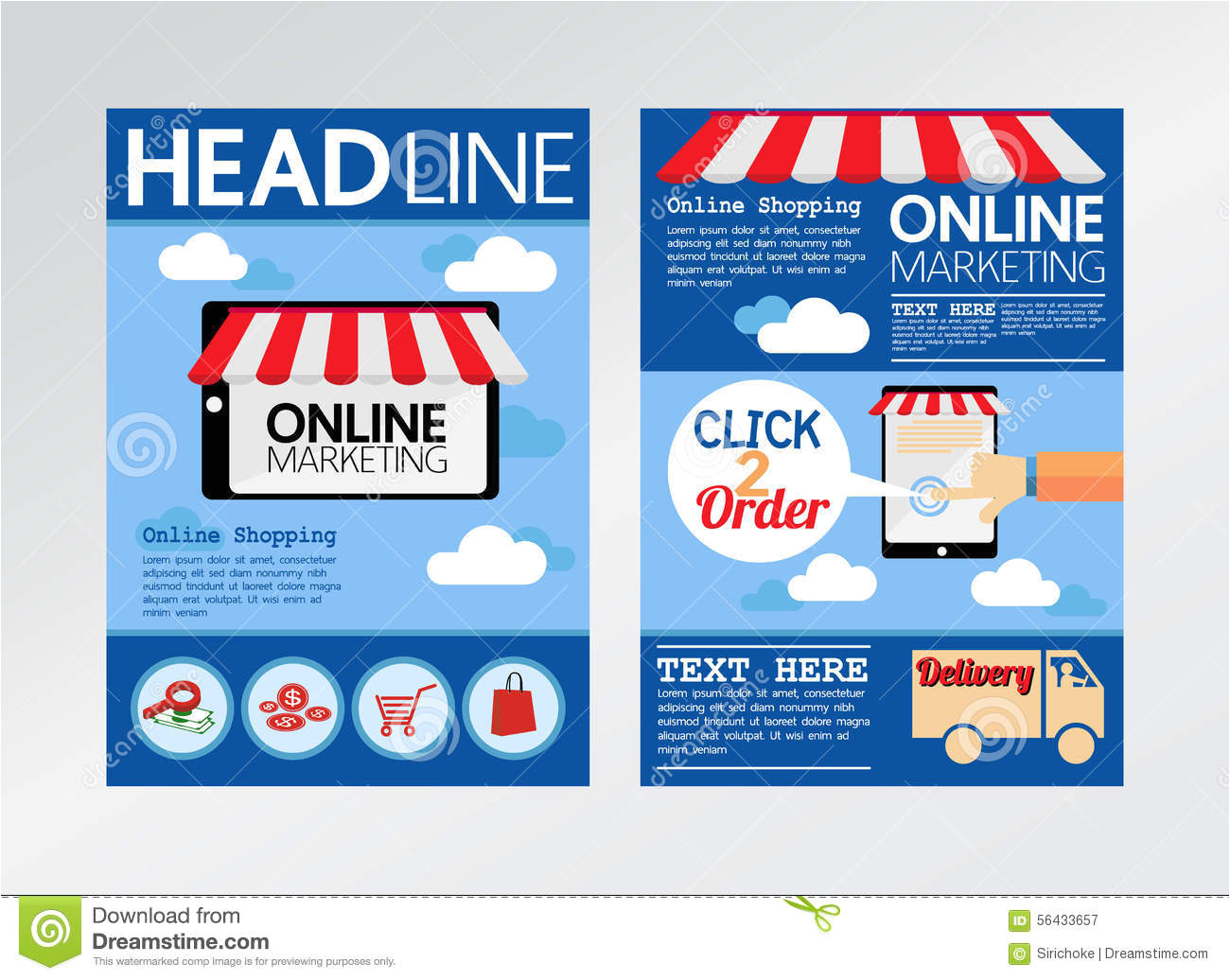 stock illustration e commerce online marketing magazine cover flyer brochure template size image56433657