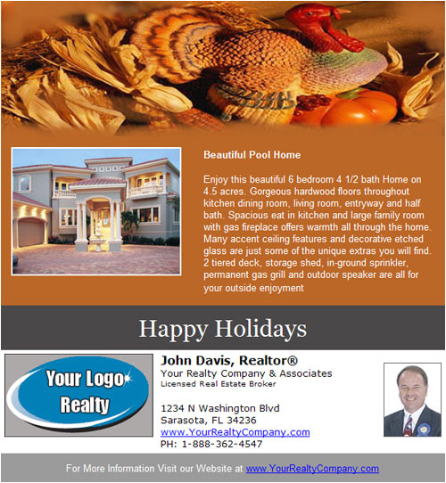 real estate email flyer template tempid 50 flyer holiday count 0