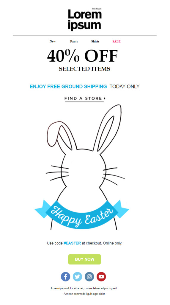 32 eggciting easter email templates