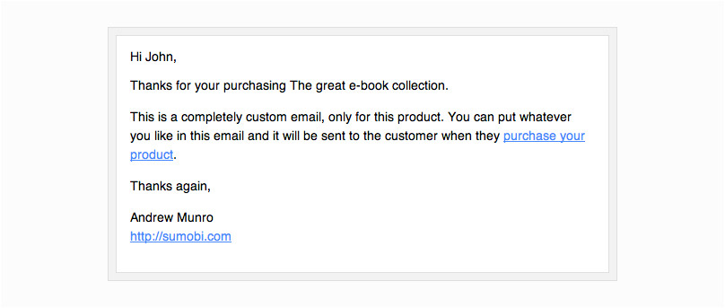 per product emails