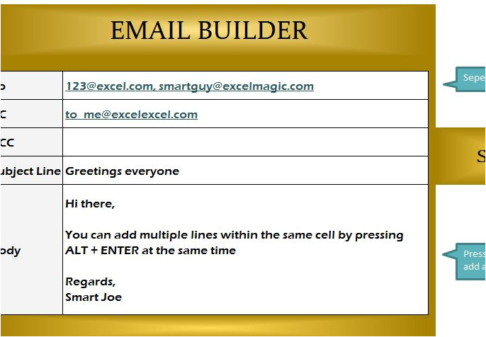 email builder template