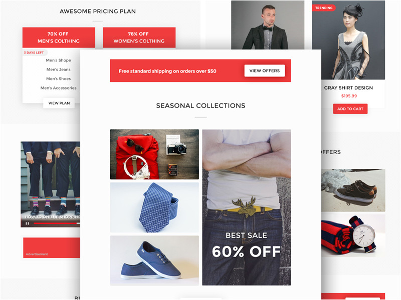 ecommerce email templates psd