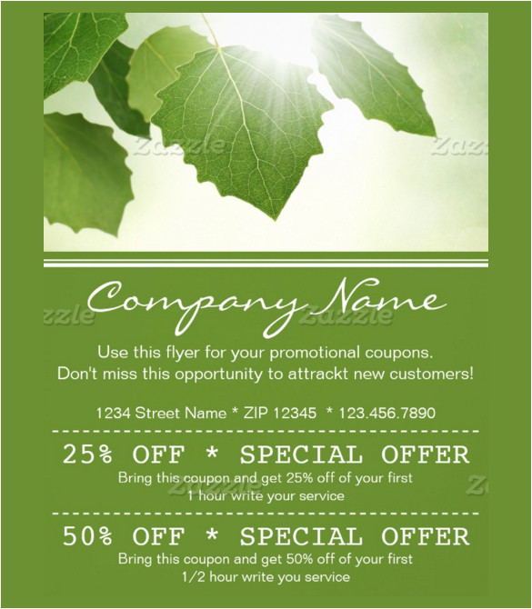 sample coupon flyer