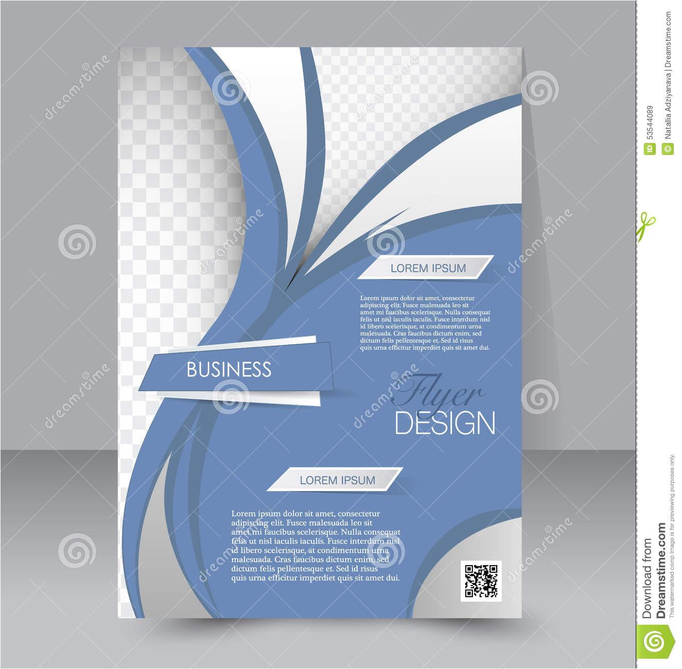 stock illustration flyer template business brochure editable poster design education presentation website magazine cover blue color image53544089