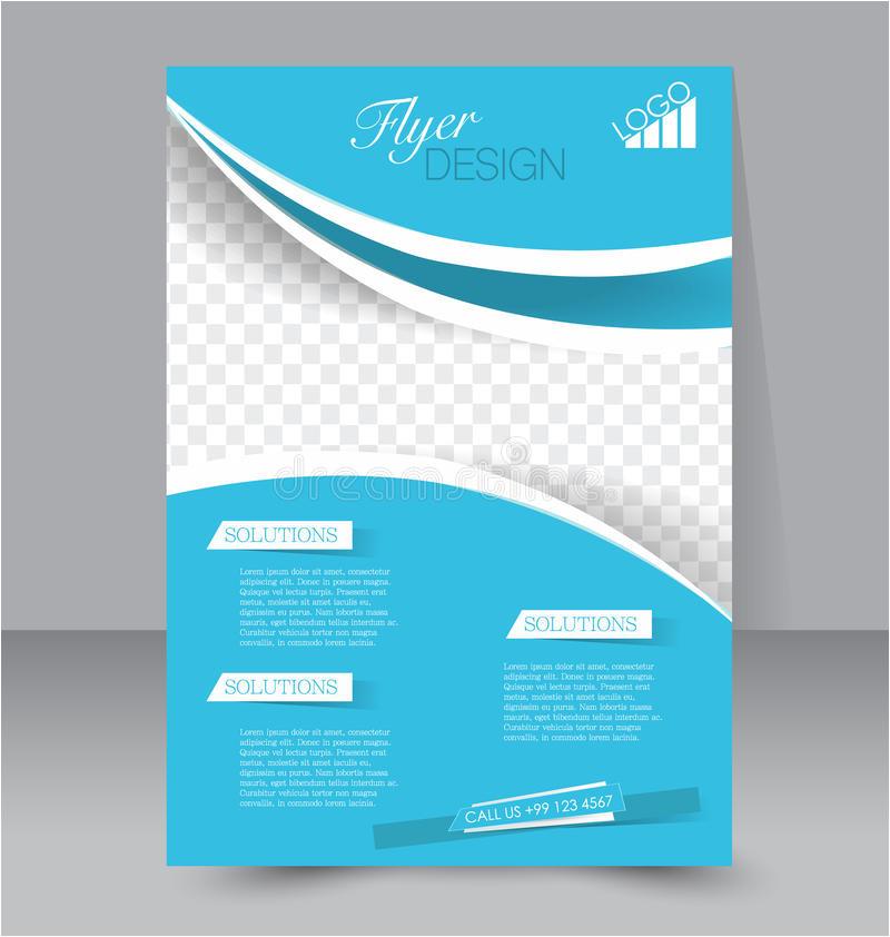 stock illustration flyer template business brochure editable poster design education presentation website magazine cover blue color image53544113