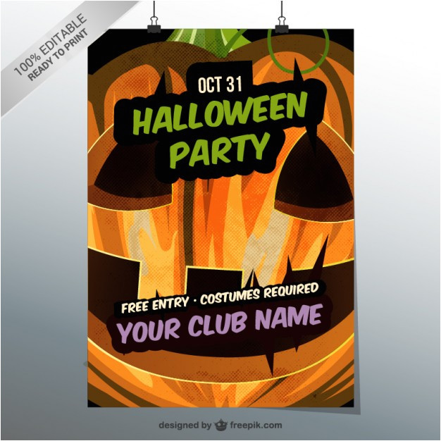 Editable Flyer Templates Online Free Editable Halloween Party Flyer Template Vector Free Download