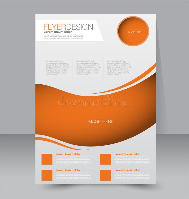 stock illustration flyer template business brochure editable poster design education presentation website magazine cover orange color image53545485