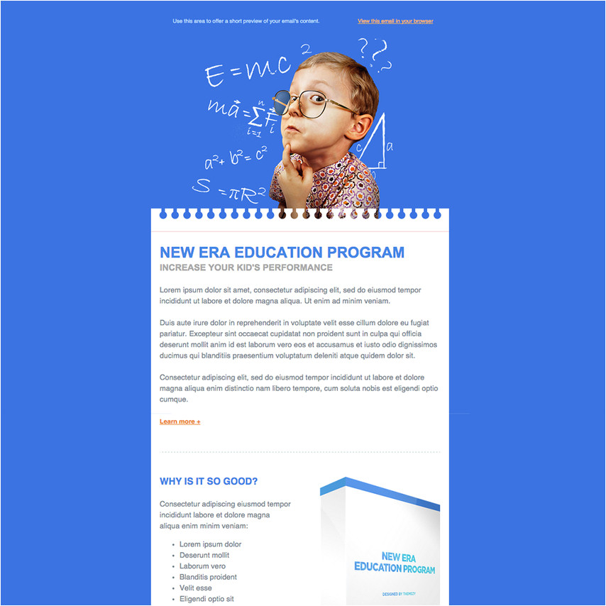 227 education responsive email newsletter template