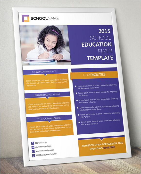 50603 standing education flyer template psd