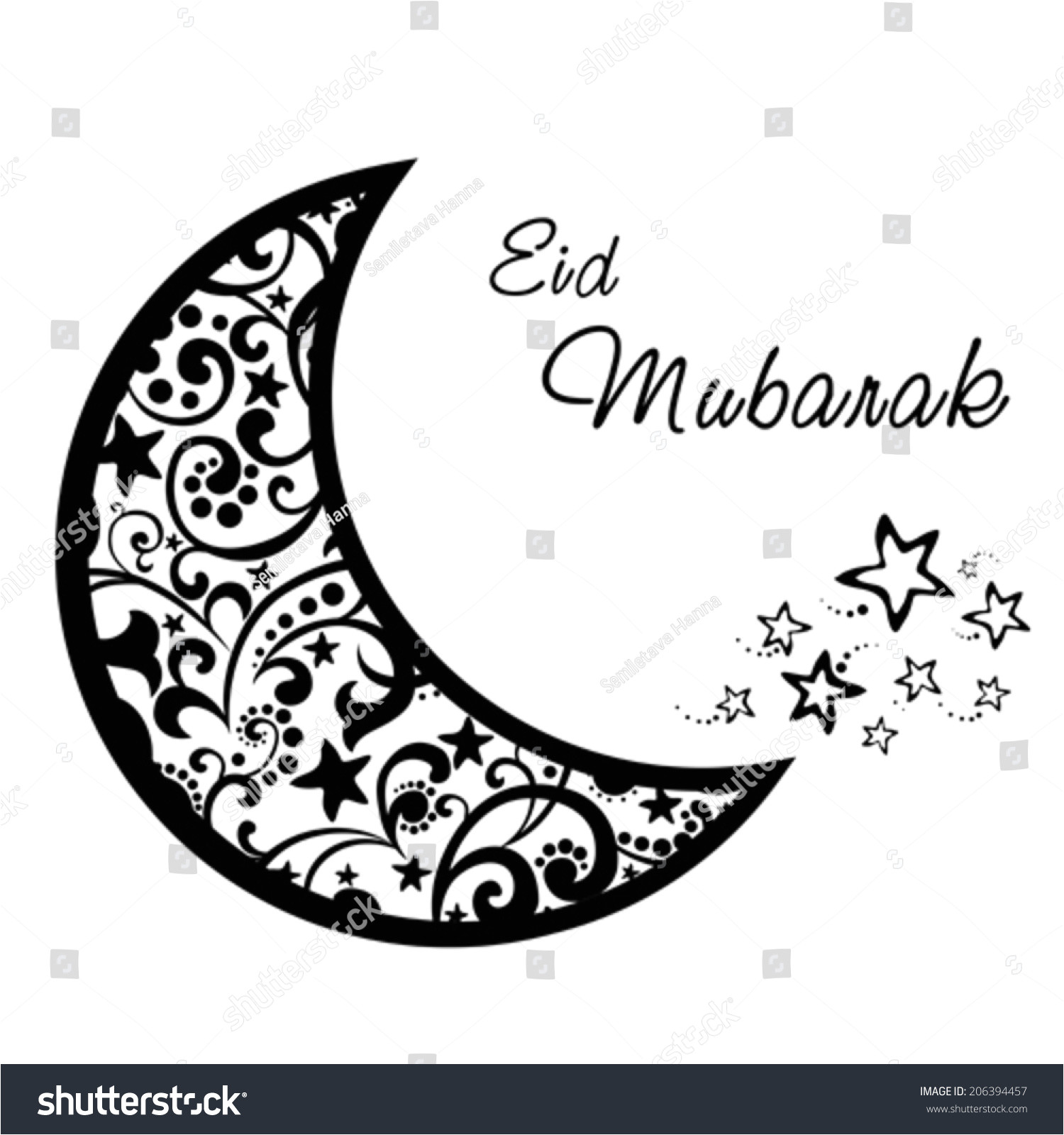 stock vector a greeting card template eid mubarak white background with isolated icon for ramadan kareem