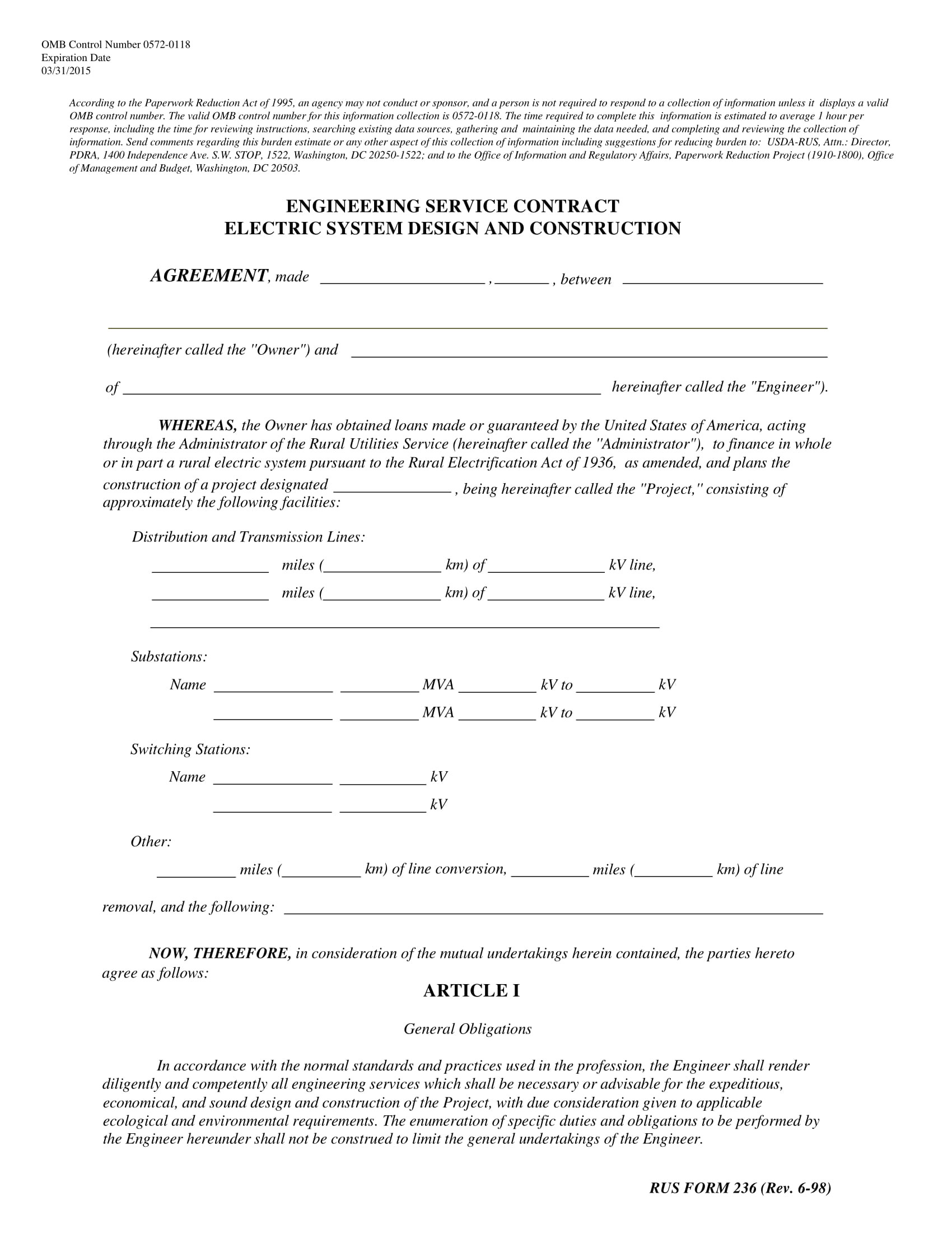 electrical contract template examples
