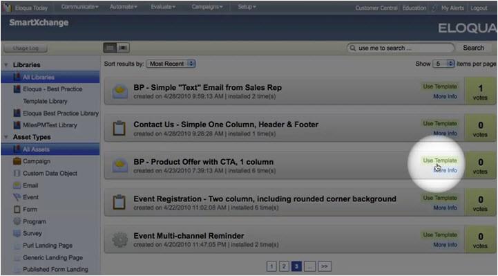 smartxchange installing template