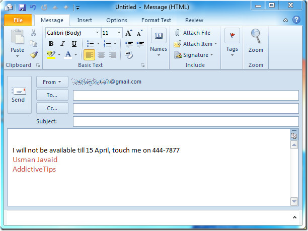 outlook 2010 auto reply to emails