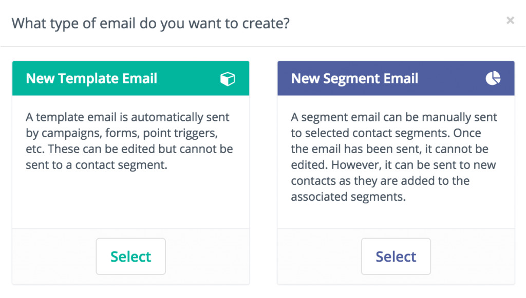 template vs segment emails