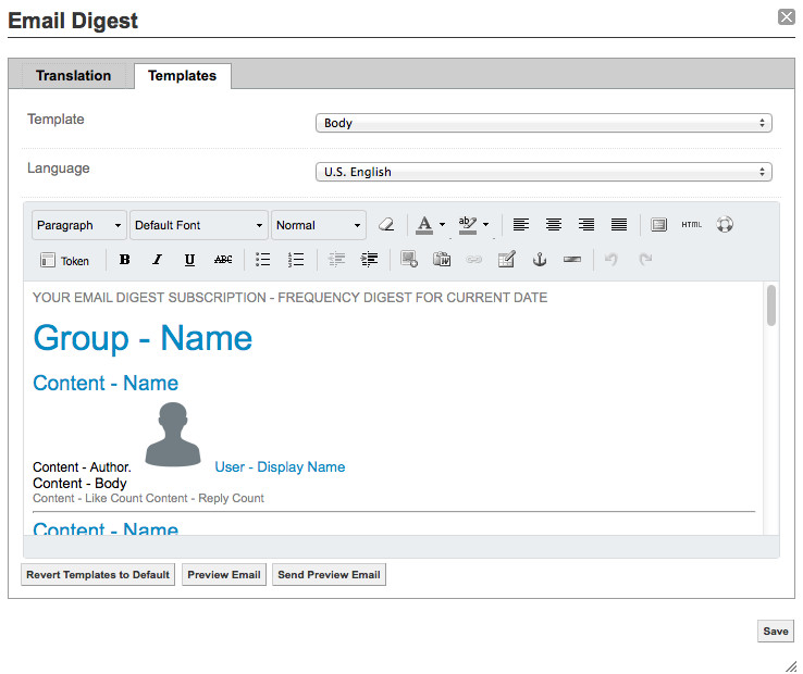 customize the email digest template