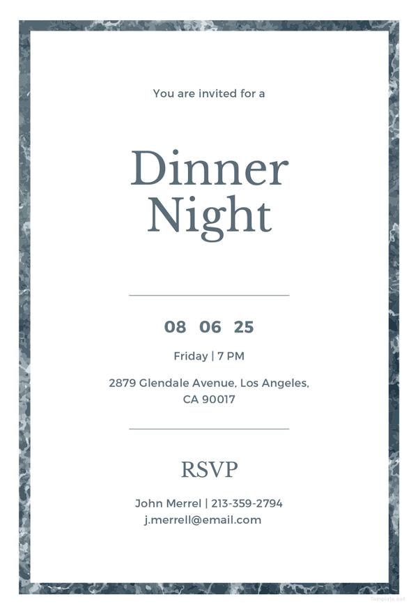printable dinner invitation