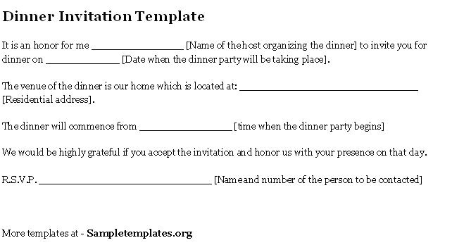 formal business invitation templates
