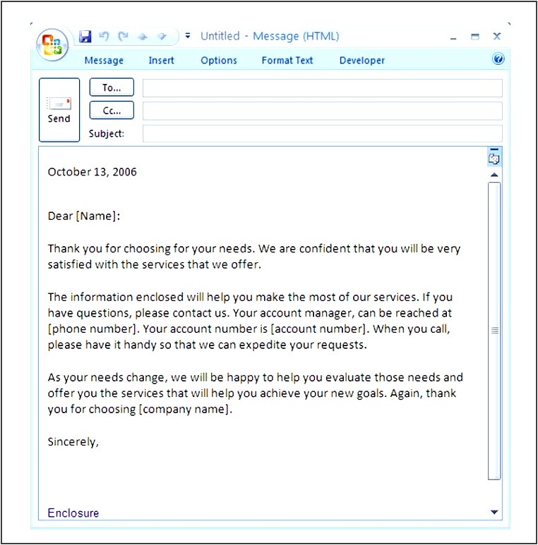 free business introduction email template in outlook lvirc