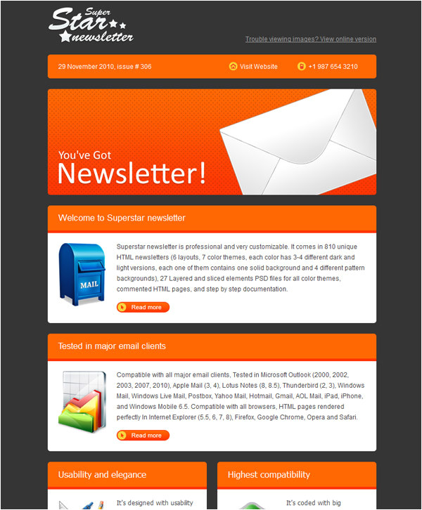 email newsletter templates 40 hand picked premium designs