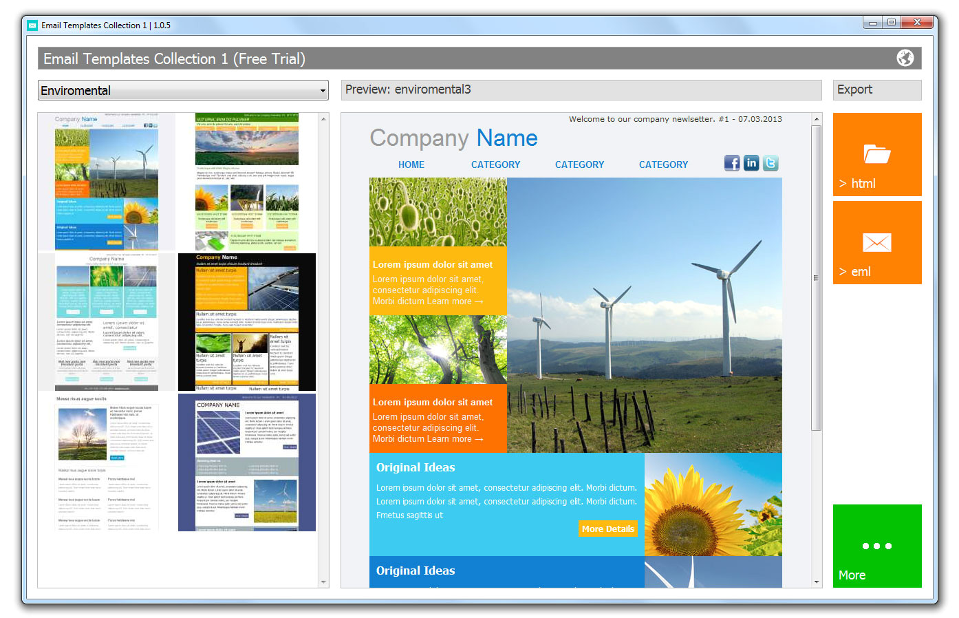 email templates software screenshots