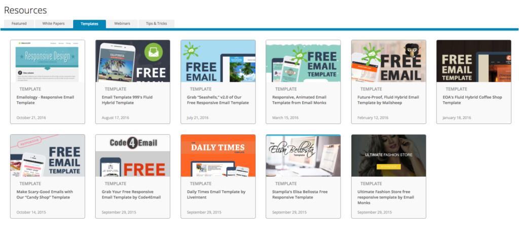 Email On Acid Responsive Template 200 Free Responsive Email Templates Sendinblue Blog