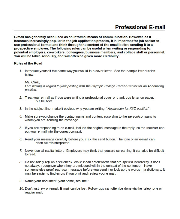 professional email