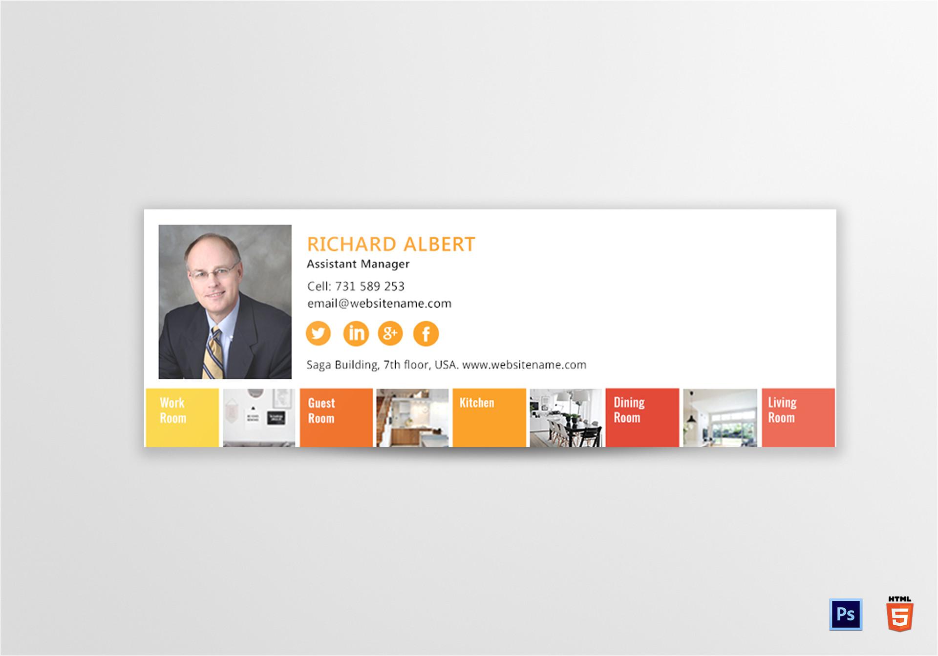 interior designer email signature