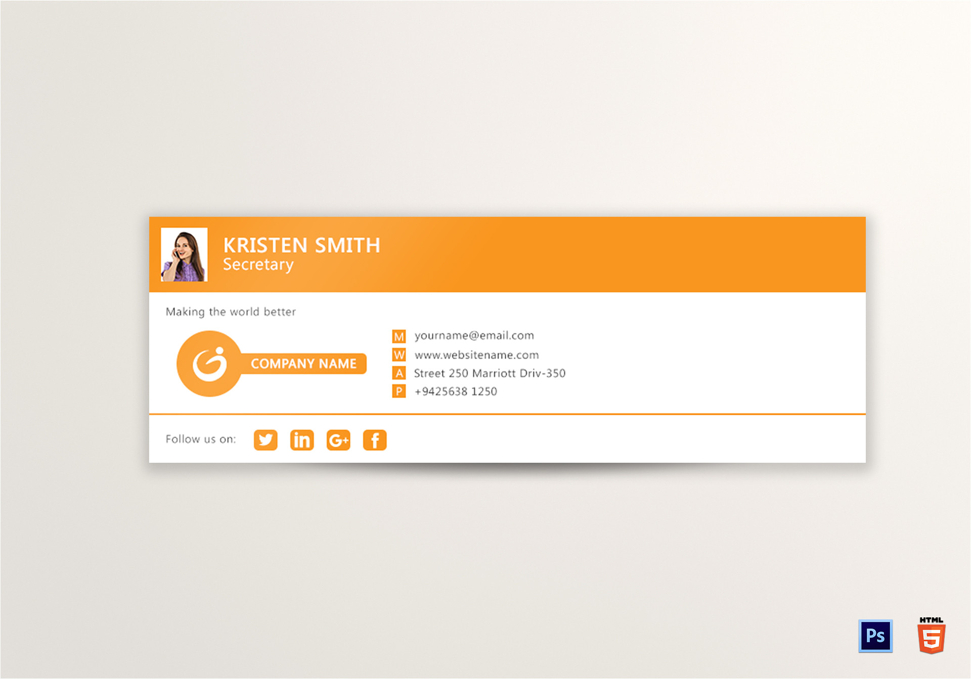Email Signature Design Templates Outlook Email Signature Design Template In Psd HTML