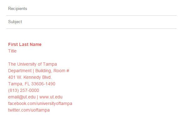 college student email signatures
