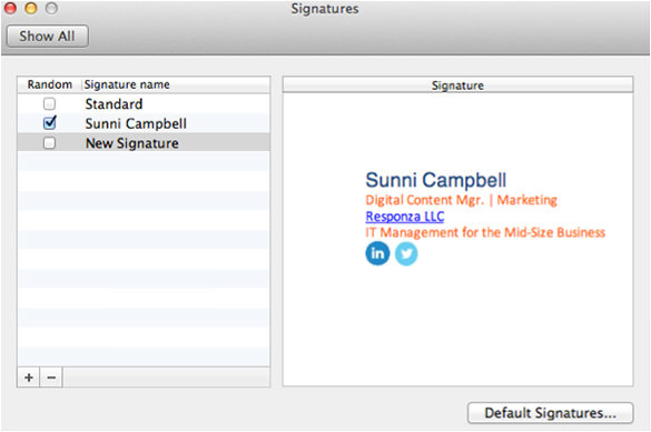 outlook email signature templates