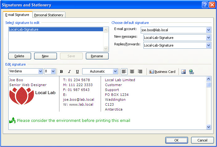 automated outlook signatures vbscript