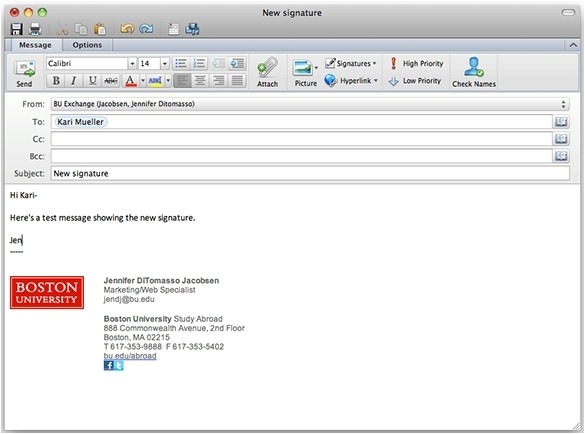 outlook template email