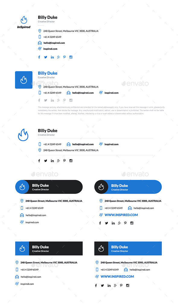 email signature psd templates