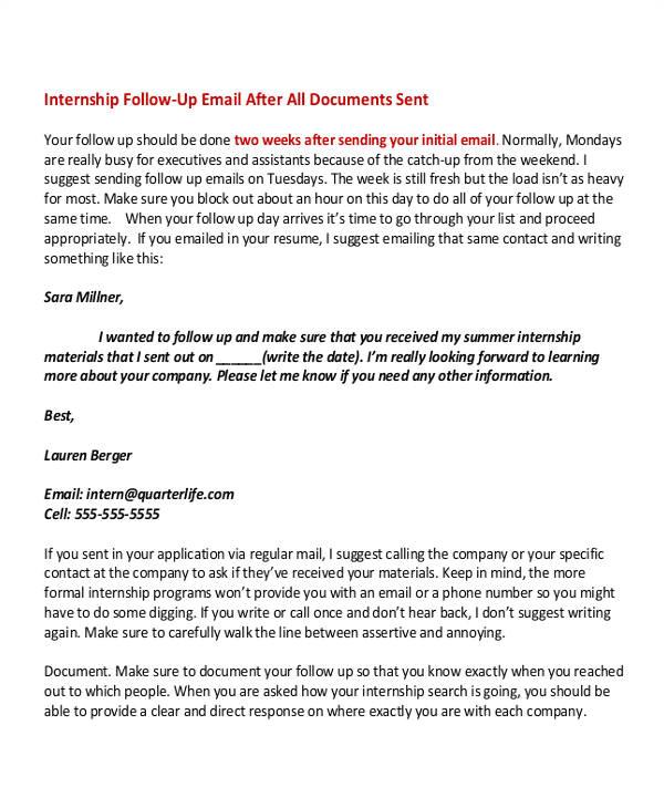 internship email