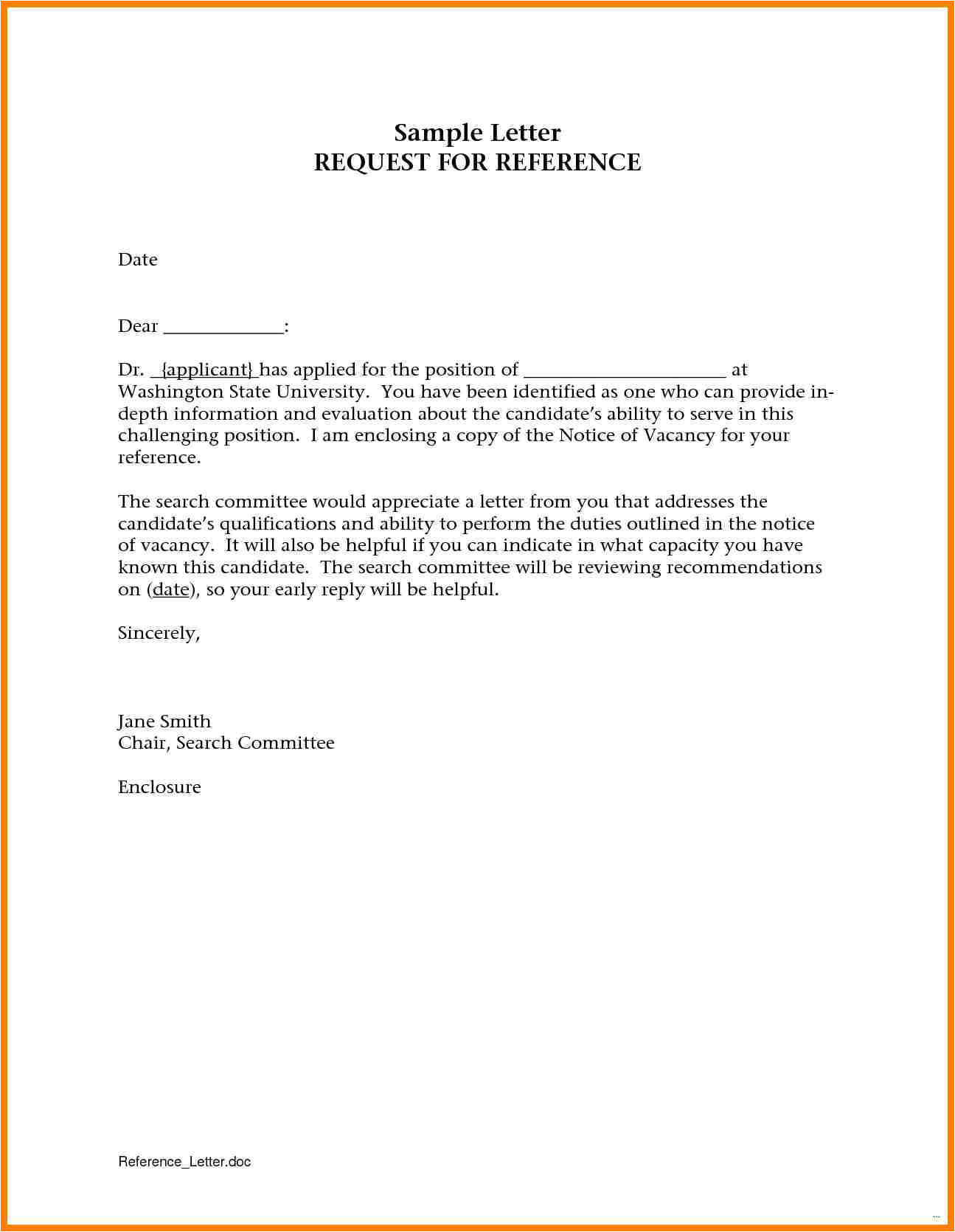 6 email template asking for letter of recommendation