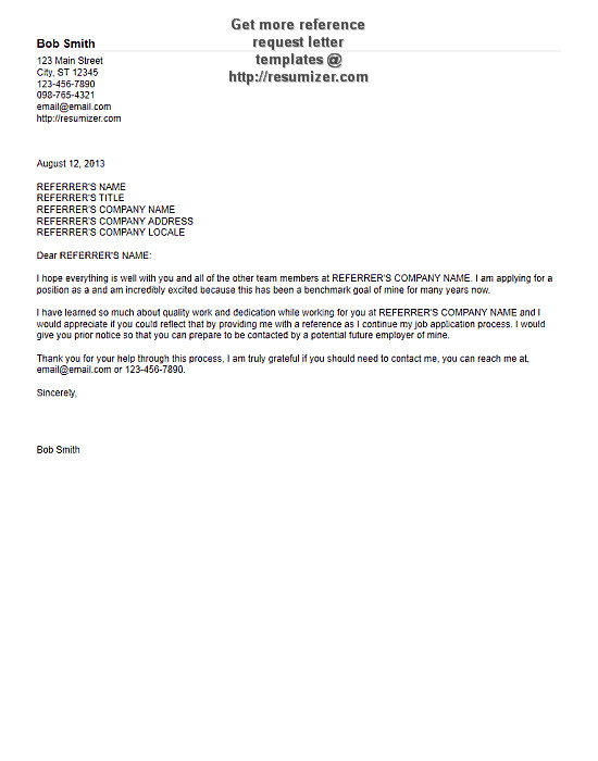 reference request letter template 1