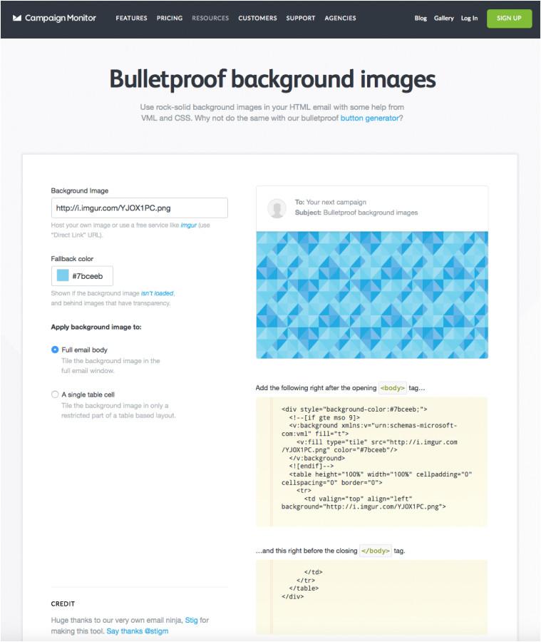 background images emails