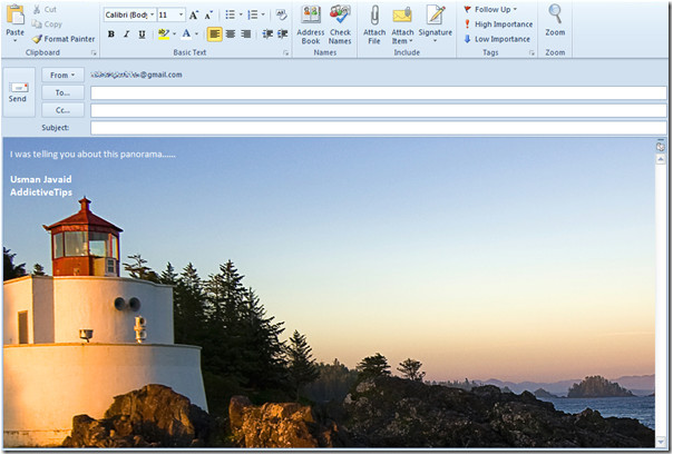 Email Template Background Image Outlook Outlook 2010 Add Background Image In Mail Compose Window