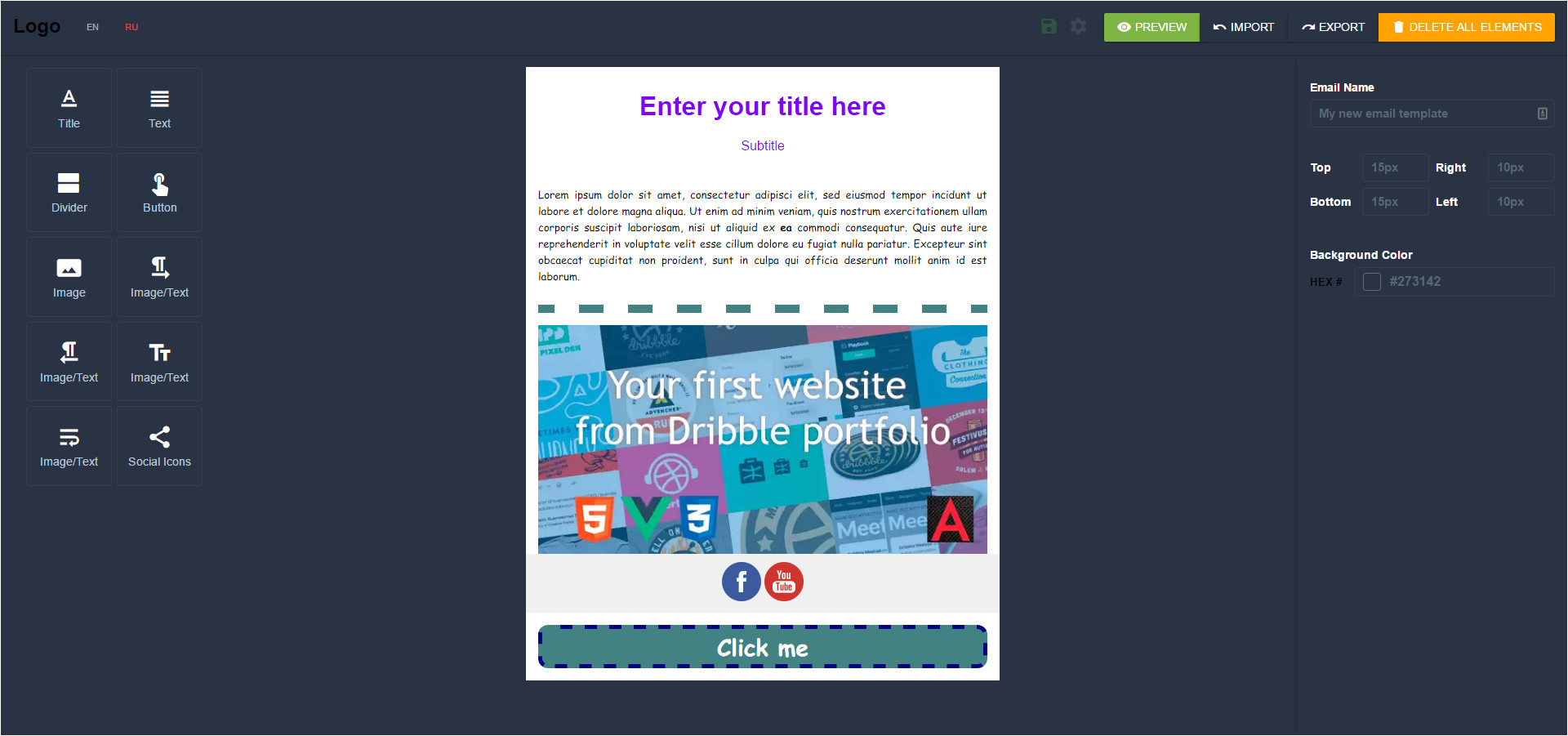 Email Template Builder Drag and Drop Angular Mjml Drag Drop Email Template Builder by
